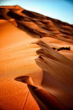 Dunes of Erg Chebbi - Moroccan sands of Sahara desert in Merouga