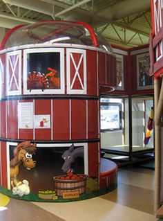 Indoor Themed Barn Playground by Iplayco - this was installed in a farmers market. Indoor Play Equipment, Commercial Playground Equipment, Indoor Play Centre, Indoor Play Areas, Kids Indoor Playground, Playground Design, Playground Ideas, Piscina Playground, Royal Bedroom