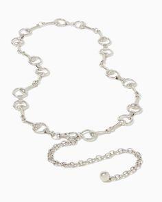 charming charlie   Horsebit Chain-Link Belt   UPC: 400000041018 #charmingcharlie