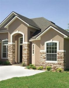 Ideas For Exterior Stone Stucco Paint Colors