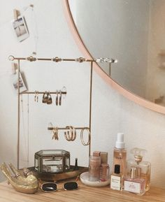 More than 28 simple DIY ideas for makeup room, org. - More than 28 simple DIY ideas for makeup room, organizer, storage and decoration… More than 28 s - Home Bedroom, Bedroom Decor, Design Bedroom, Bedrooms, Decor Room, Bedroom Storage, Bedroom Ideas, Makeup Rooms, Room Goals
