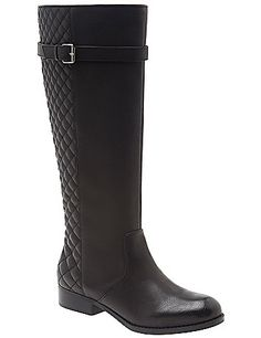 Wide Calf Quilted Riding Boot by Lane Bryant | Lane Bryant