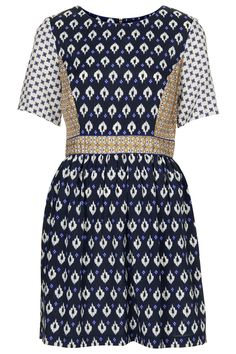 Mix Tile Print Flippy Dress - New In This Week - New In - Topshop