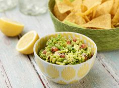 New favorite Guac recipe from Ina Garten. The ingredients aren't traditional but the flavor is amazing.