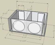 Resultado de imagen para subwoofer box design for 12 inch Diy Subwoofer, 12 Inch Subwoofer Box, Subwoofer Box Design, Car Speaker Box, Speaker Box Design, Speaker Plans, Audio Box, Car Audio, Sub Box Design