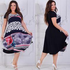 dc2a061b1c8 Женское свободное платье ниже колен с коротким рукавом