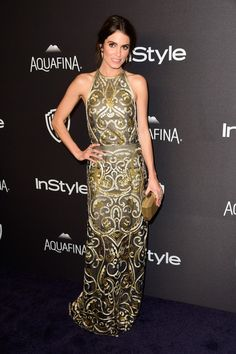 Nikki Reed in a Naeem Khan dress and a Monique Lhuillier clutch - 2016 InStyle And Warner Bros. 73rd Annual Golden Globe Awards Post-Party - January 10, 2016