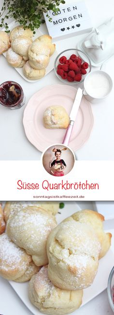 Sweet Quark Oil Bun Recipe Soft and fluffy rolls in 30 minutes - Wonderful soft, delicious and delicious sweet curd oil buns make every breakfast or afternoon coffe - Dessert Sans Gluten, Bon Dessert, Canned Blueberries, Vegan Scones, Scones Ingredients, Sweet Buns, Cheese Rolling, Vegan Blueberry, Bun Recipe