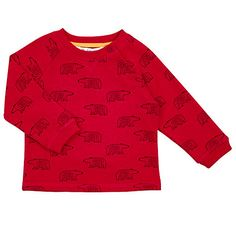Buy John Lewis Baby's Bear Sweatshirt, Red - £11