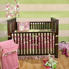 "Pink & Lime Paisley Splash 4 Piece Crib Bedding Set - My Baby Sam - Babies ""R"" Us"