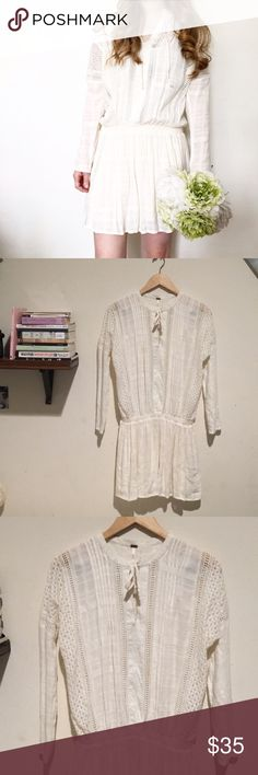 Free People Nomad Peasant Dress Tunic Top, boho vibes! New with tags :)  Size XS but can also fit a Sm Free People Dresses Mini