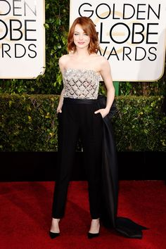 Emma Stone Made A Big Statement On Her Oscars Dress With This Small Detail+#refinery29