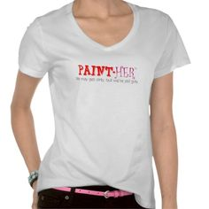paint-HER V-Neck Tee: Her-Wear.com was started by a woman who worked in home improvement, was a home improvement enthusiast and also loved comfortable yet fashionable clothing and fun accessories. She was proud of the work she did and wanted others to know about it. She flaunted her femininity  and most importantly, she still had a sense of humor. Her-Wear.com helps her and other women to define the type of empowered woman they are by not only what they do but who they are on the inside.