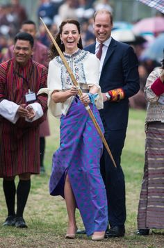 Kate Middleton Got Her Katniss Everdeen On While Wearing a Freakin' Cape