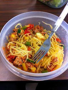 The Dukan Dietress: Spaghetti Squash - Recipe