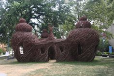 Sapling Structure built by Patrick Doughtry for Springfield Museums..