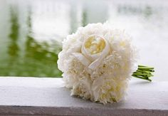 White Peony Bouquet // Get the Look! Kristin Cavallari & Jay Cutler's Southern Wedding Style // TheKnot.comTKB_KristinCavallari_JayCutler_04