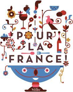Illustration   Pour la France! Bistro by Federico Jordán