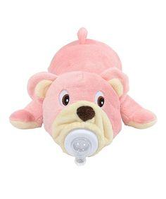 Bottle Pets Pink Bella Bear Baby Bottle Cover by Bottle Pets #zulily #zulilyfinds
