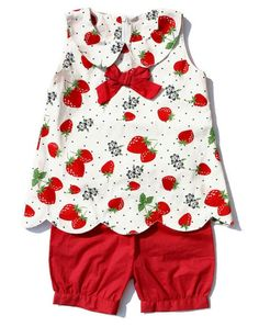 Kaiya fashion summer outfit strawberry sleeveless top with red bow and red baby bloomer Baby Outfits, Summer Fashion Outfits, Baby Girl Dresses, Toddler Outfits, Baby Dress, Kids Outfits, Kids Fashion, Summer Outfit, Frock Design