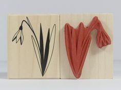 Stempel - Stempel Schneeglöckchen snowdrop - ein Designerstück von Frau_Zwerg bei DaWanda