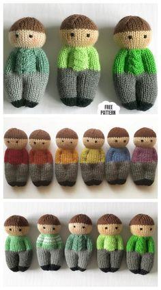 Knit One-Piece Izzy Buddy Dolls Toy Knitting Patterns - Knitting Pattern Knit One-Piece Izzy Buddy Dolls Toy Knitting Patterns - Knitting Pattern proyectos de tejer Knitting Dolls Free Patterns, Knitted Dolls Free, Knitted Hats Kids, Crochet Dolls, Crochet Patterns, Free Knitting, Knitting Toys, Knit Crochet, Sweaters Knitted