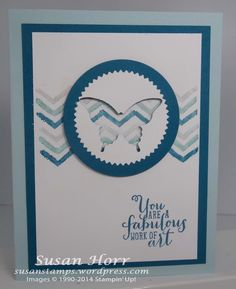 Here is another sample using the new Stampin' Up! stamp set called Work of Art that is coming out in the 2014/2015 Annual Catalog that begins June 2nd.  I love the saying it comes with. My father...