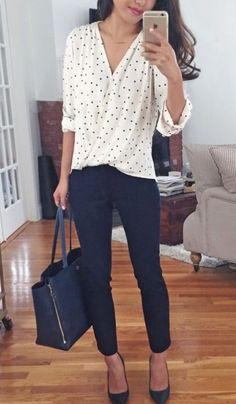 Casual and comfy work outfits inspiration with flats (32)