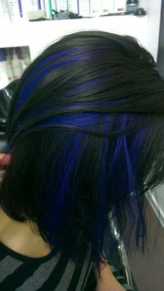 Blue and black hair, looks awesome together!
