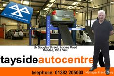 Tayside Autocentre 1b Douglas Street Lochee Road Dundee DD1 5AN Telephone 01382 205000