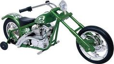 Big Toys Kalee Custom Green Chopper Battery Powered Riding Bike, just what the boy needs!!