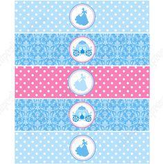 Cinderella Inspired Printable Water Bottle Labels