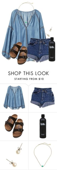 """~f r i d a y~"" by flroasburn ❤ liked on Polyvore featuring Gap, Birkenstock, J.Crew and Kendra Scott"