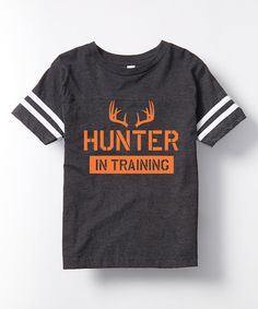 Charcoal 'Hunter in Training' Football Tee - Toddler & Kids by Country Casuals #zulily #zulilyfinds