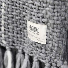 MrsBLOOM Collection AW2015 - Knitted Throw Claire light grey 130x170