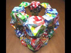ユニット折り紙 斜方切頂立方八面体 【Modular Origami】 - YouTube