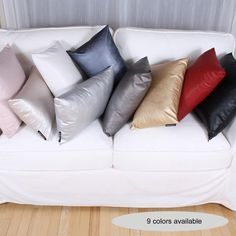 PERFECTO cushion Taupe, Beige, Faux Leather Fabric, Bed Pillows, Pillow Cases, Black And White, Color, Home, Throw Pillows