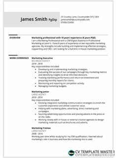 Two page bordered free CV template alternative - CV Template Master