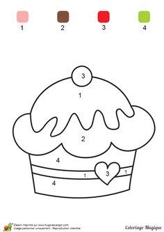 coloriage magique maternelle gateau à imprimer sur hugolescargot.com