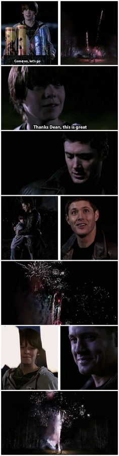 [gifset] 1996 4th of July happy memories :)  5x16 Dark Side Of The Moon #SPN #Dean #Sam
