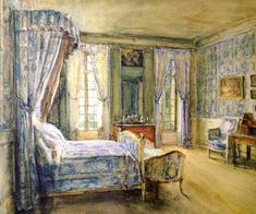 The Blue Bedroom Bréau (Walter Gay)
