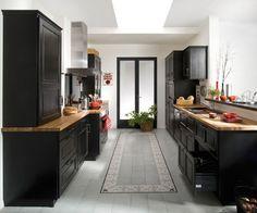 cuisine noir laqué et bois - Recherche Google