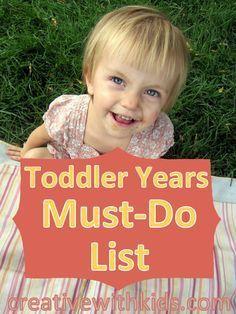 Toutes les choses les plus amusantes à faire avec les tout-petits avant qu'ils ne deviennent de grands enfants!