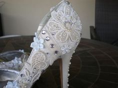 My DIY Wedding Shoes :  wedding antique ceremony classy diy ivory reception shabby chic shoes southern special vintage white 2006 12 31 23.00.00 103