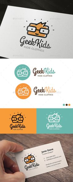 "Geek Kids Logo Template Vector EPS, AI. Download here: <a href=""http://graphicriver.net/item/geek-kids/12756239?ref=ksioks"" rel=""nofollow"" target=""_blank"">graphicriver.net/...</a>"
