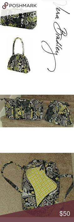 "Vera Bradley bundle Vera Bradley large duffel weekender baroque bag and Eloise baroque kiss lock top purse bundle. Both in great condition with minor spots on inside.   Duffel: (L) 17.5""x (W) 8""x (H) 8.5"" Purse: (L) 13""x (W) 4.5""x (H) 10"" Vera Bradley Bags"