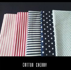 Stripes and dots for cushions