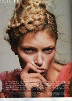 Anja Rubik by Claudia Knoepfel & Stefan Indlekofer for Vogue Paris, March 2010.