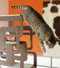 AWESOME scratching post/cat furniture. WANT