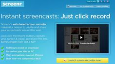 Screenr - FREE - Create Screencast on the web for easy distribution and postings